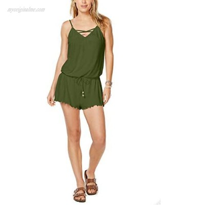 California Waves Juniors Cover-up Romper (X-Large) Olive