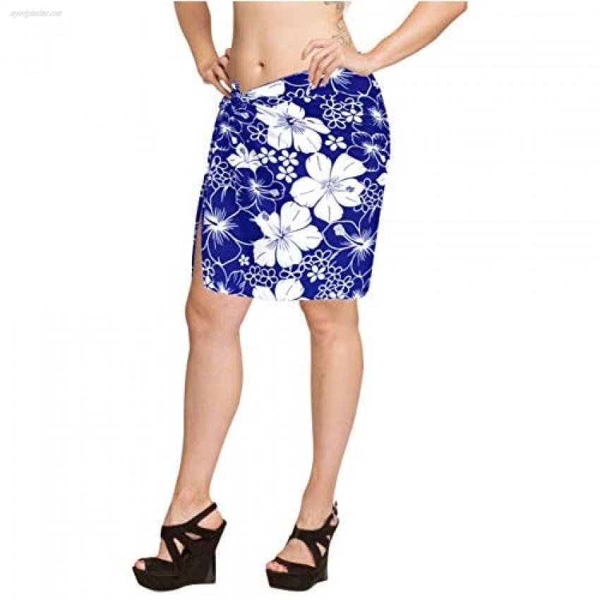 LA LEELA Shawls Scarves Scarf Women's Plus Size Sarong Beach Blanket Pareo Wrap Skirt Tie Half Short