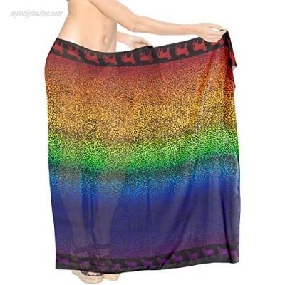 LA LEELA Women's Swimsuit Cover Up Beach Wrap Skirt Hawaiian Sarongs Full Long D