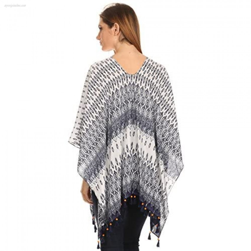LL- Womens Caftan Poncho Cover Up Scarf Top Light Weight or Suede - Many Styles