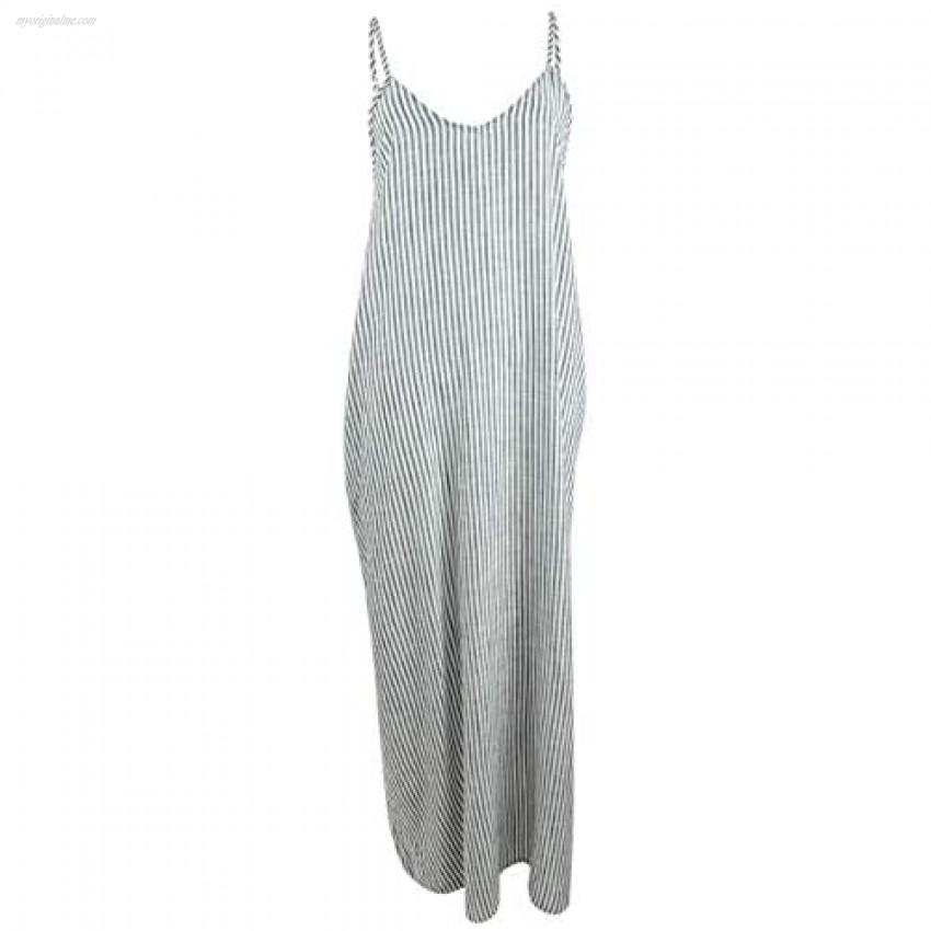 Raviya Womens Cotton Striped Maxi Dress Cover-Up