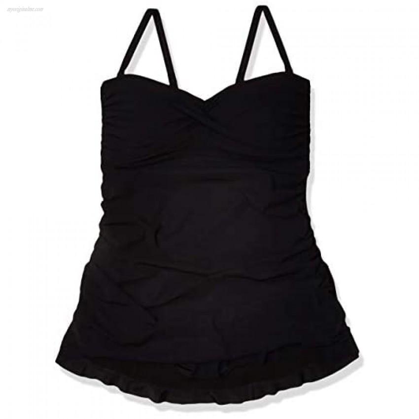 Profile by Gottex Women's Plus-Size Classic Bandeau Swimdress One Piece Swimsuit