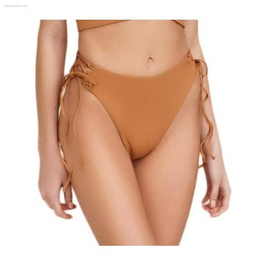 ToBeInStyle Women's High Waisted High Cut Leg Cheeky Bikini Bottoms
