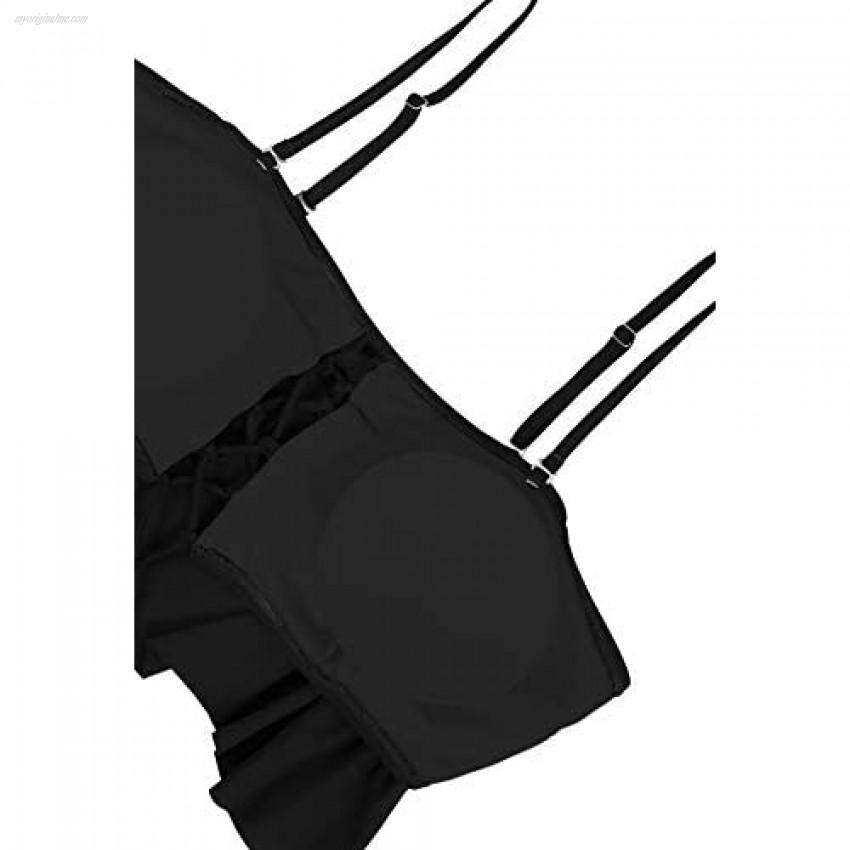 Sovoyontee Women's Plus Size Swimwear Two Piece High Waist Swimsuit Bathing Suits