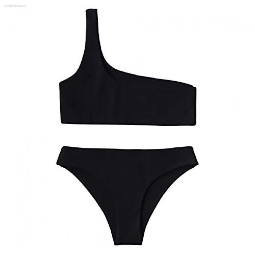 ZAFUL Women's Snakeskin Bikini Set Padded Back Lace-up Two Piece Swimsuit Bathing Suits