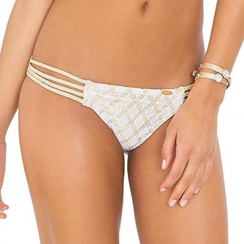 Luli Fama Women's Diamantes De Coral Multi-Braid Brazilian Bikini Bottom