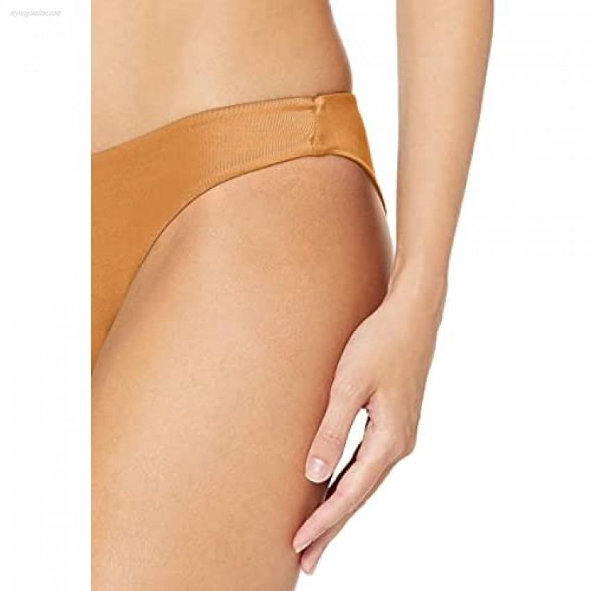 RVCA Women's Solid Cheeky Bikini Bottom