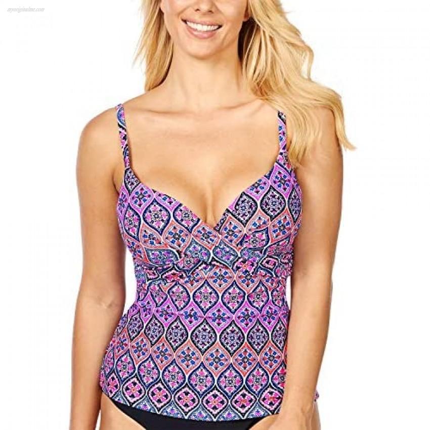 Island Escape Women's Bimini Gemini Printed Underwire Tankini Swim Top