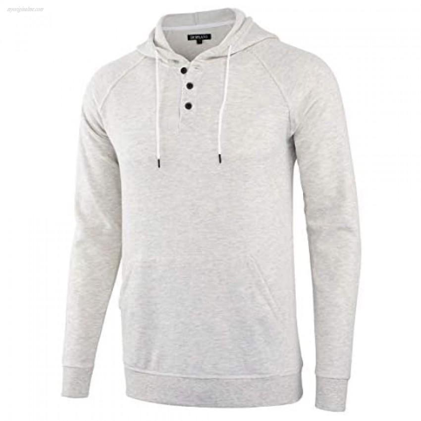 DESPLATO Men's Casual Active Sports Baseball Fleece Sweatshirt Pullover Hoodies