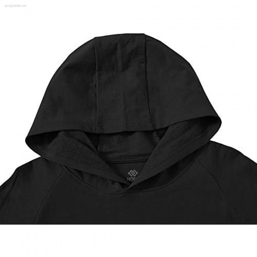 JINSHI Men Active Pullover Hoodie Shirts Sweatshirt Long Sleeve Shirt with Pocket Soft Comfy Top