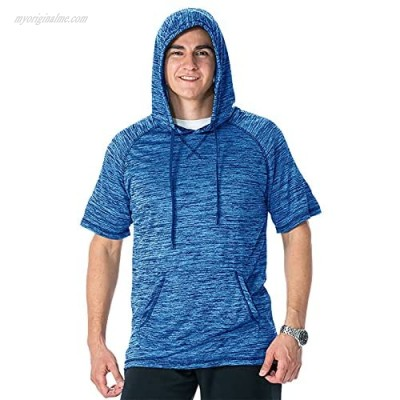 Mens Casual Athletic Hoodies Sport Workout Lightweight Quick Dry Fit Mositure Wicking Performance T-Shirt