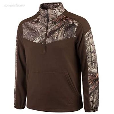 Huntworth Men€™s Anti-Pill Fleece 1/4 Zip Pullover Top