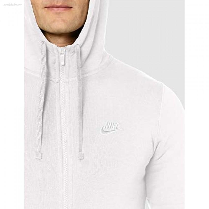Nike Men's Sportswear Club Fleece Full Zip Hoodie Vast Grey/Vast Grey/White XX-Large