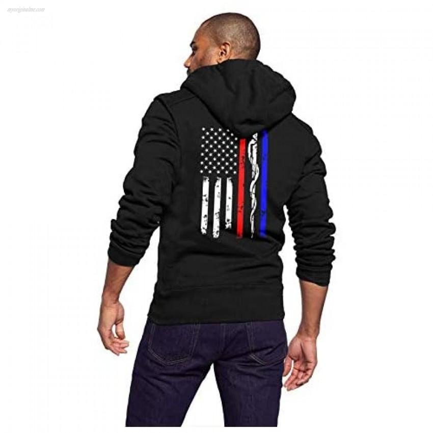 URTEOM Men's Lightweight Full Zip Hoodie Long Sleeve Hooded Sweatshirt Athletic Jackets