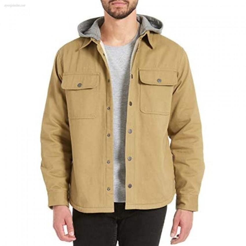 Jachs Men's Sherpa Lined Canvas Shirt Jacket