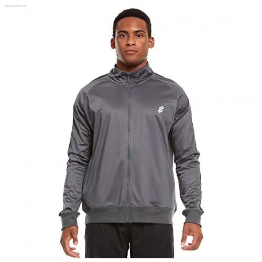 Men's Active Performance Sports Workout Lightweight Casual Tricot Knit Track Jacket