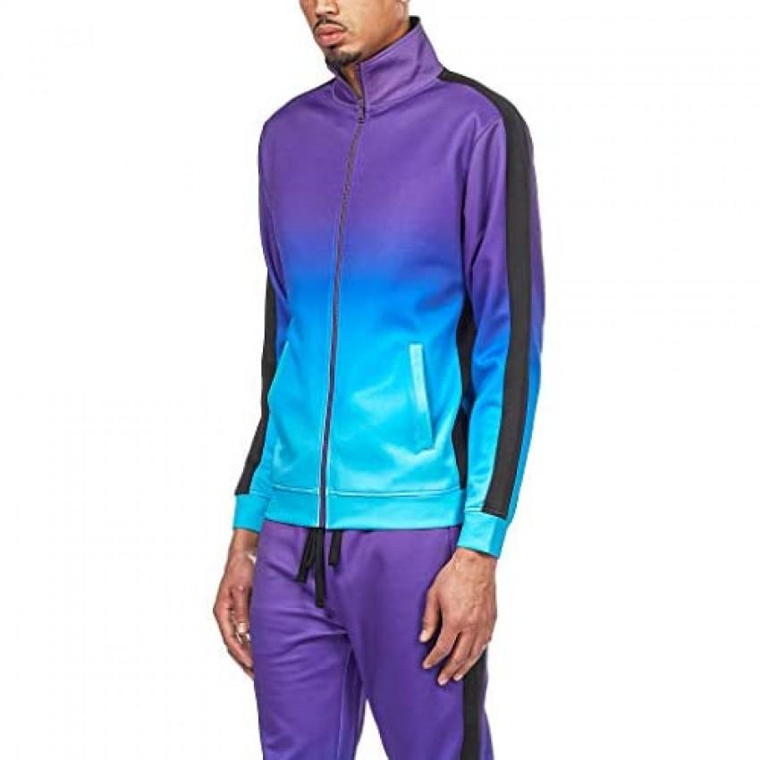 Rebel Minds Track Jackets Lightweight Full Zip Up Performance Slim Fit Fashion Side Tape