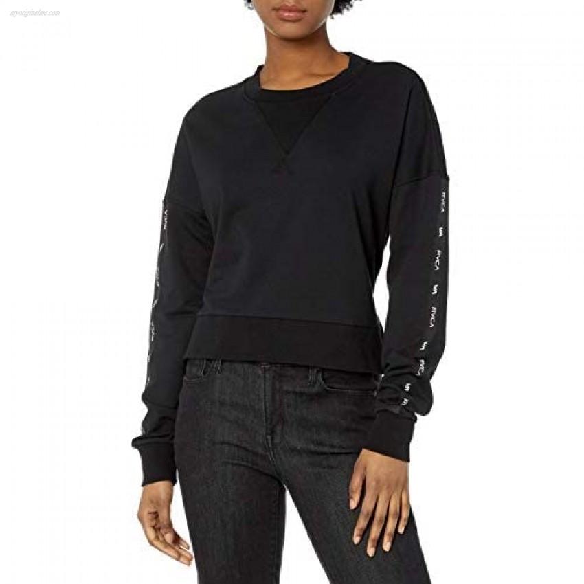 RVCA Women's Classic Crew Neck Fleece Sweatshirt
