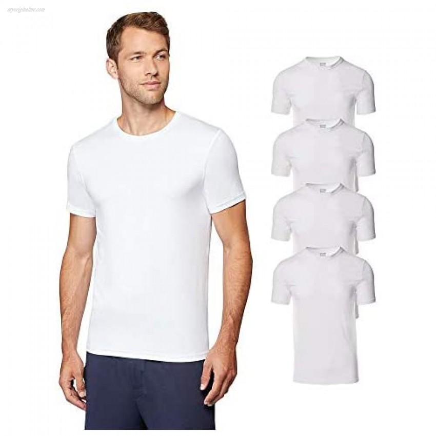 32 DEGREES Mens 4 Pack Cool Quick Dry Active Basic Crew T-Shirt