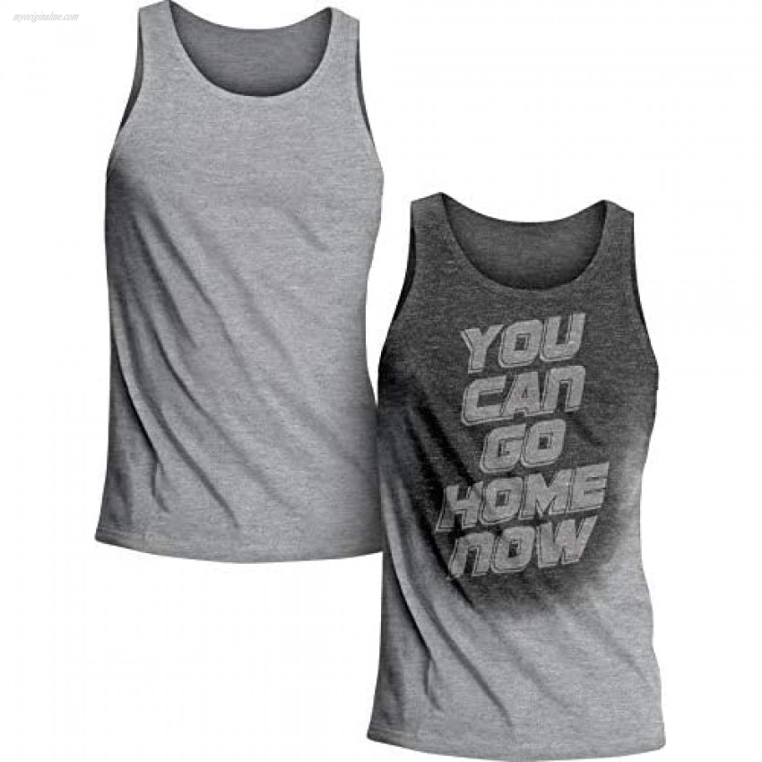 Actizio Sweat Activated Funny Motivational Men's Tank Top You Can Go Home Now