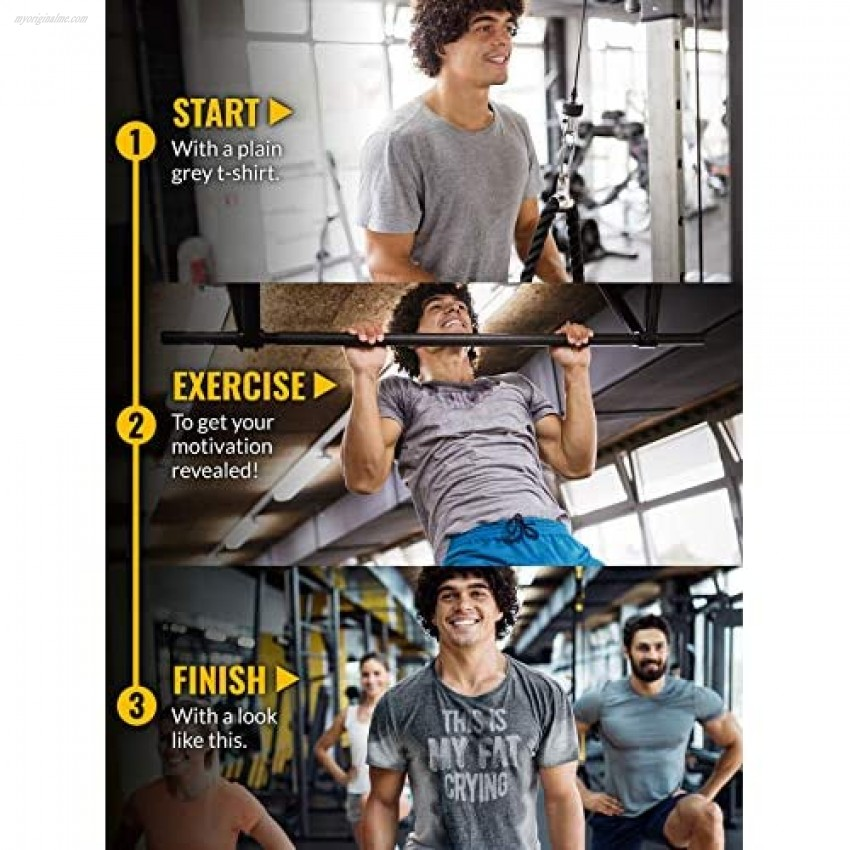Actizio Sweat Activated Funny Motivational Workout Shirt This is My Fat Crying