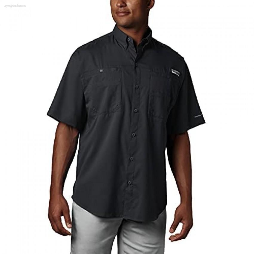 Columbia Men's PFG Tamiami II Short Sleeve Shirt Moisture Wicking Sun Protection Black 5X