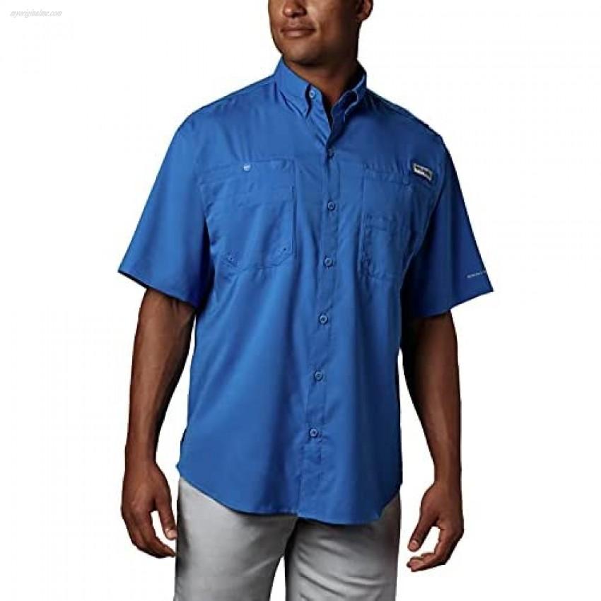 Columbia Men's PFG Tamiami II Short Sleeve Shirt Vivid Blue Large