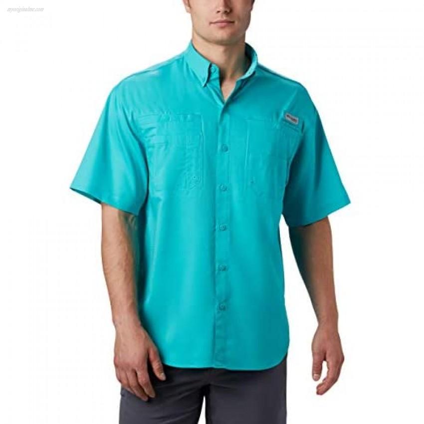 Columbia Men's Tamiami II Short Sleeve Shirt Bright Aqua Large