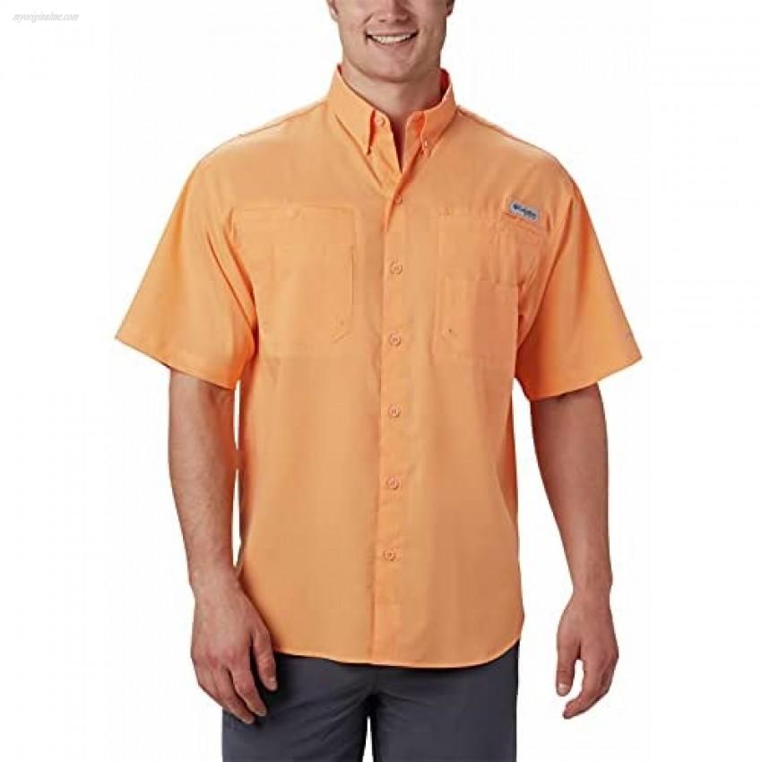 Columbia Men's Tamiami II Short Sleeve Shirt Bright Nectar 4X Tall