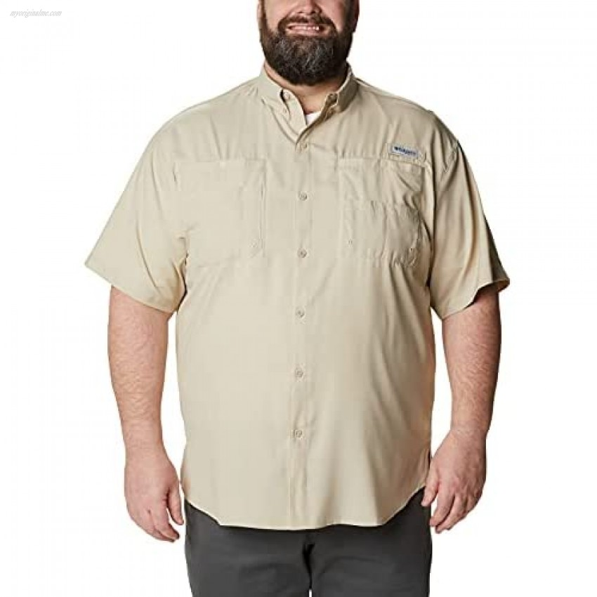 Columbia Men's Tamiami II Short Sleeve Shirt Fossil 5X Tall