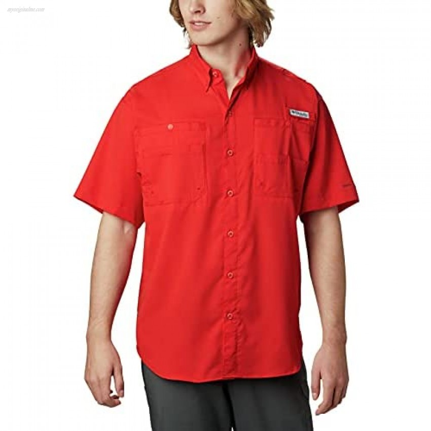 Columbia Men's Tamiami II Short Sleeve Shirt Red Spark Large