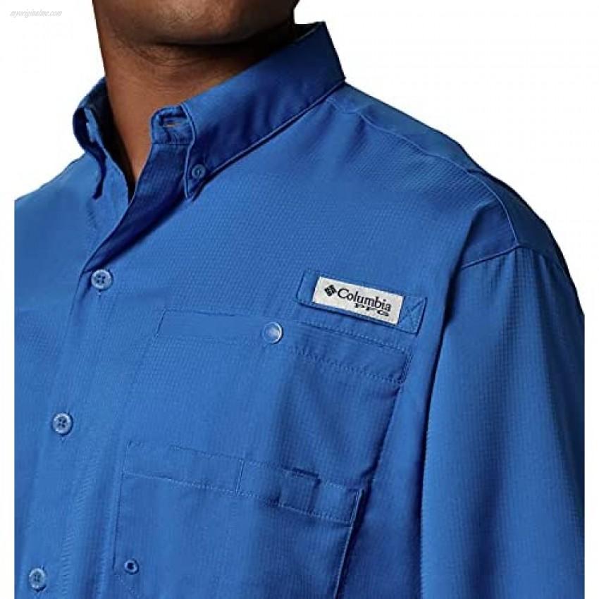 Columbia Men's Tamiami II Short Sleeve Shirt Vivid Blue 2X Tall