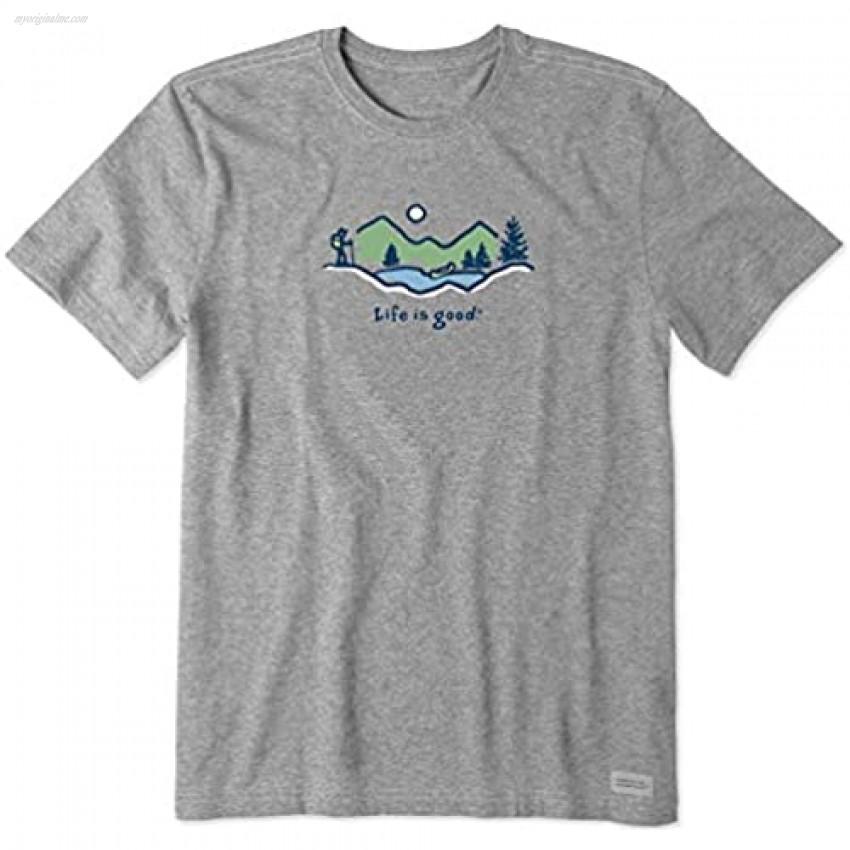 Life is Good Men's Vintage Crusher Graphic T-Shirt Hike Vista