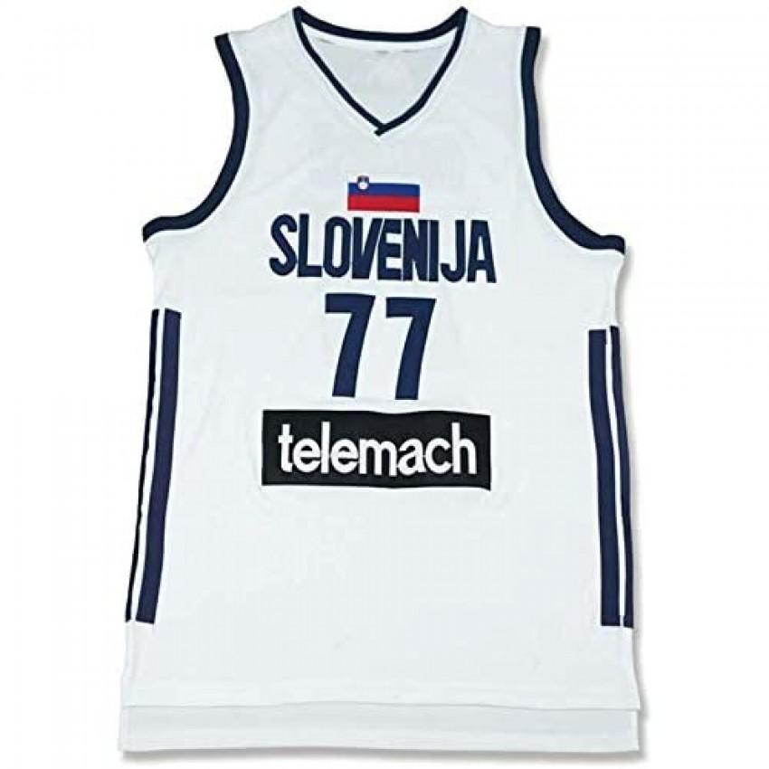 Luka Doncic 7 Real Madrid White Basketball Jersey Stitch Slo