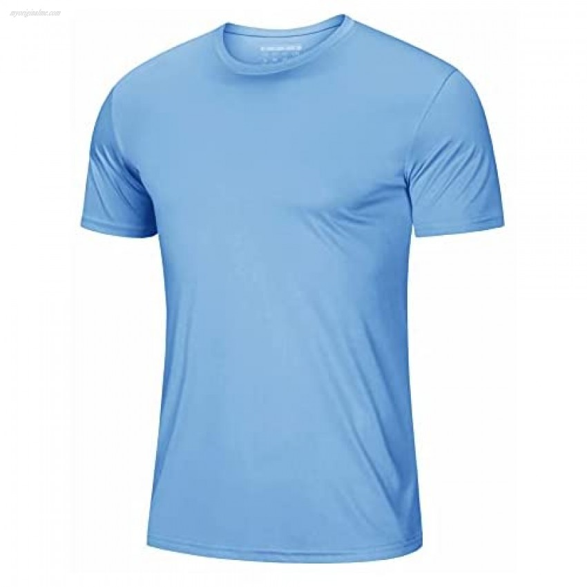 MAGCOMSEN Men's Short Sleeve T-Shirt Quick Dry UPF 50+ Athletic Running Workout Fishing Top Tee Performance Shirts