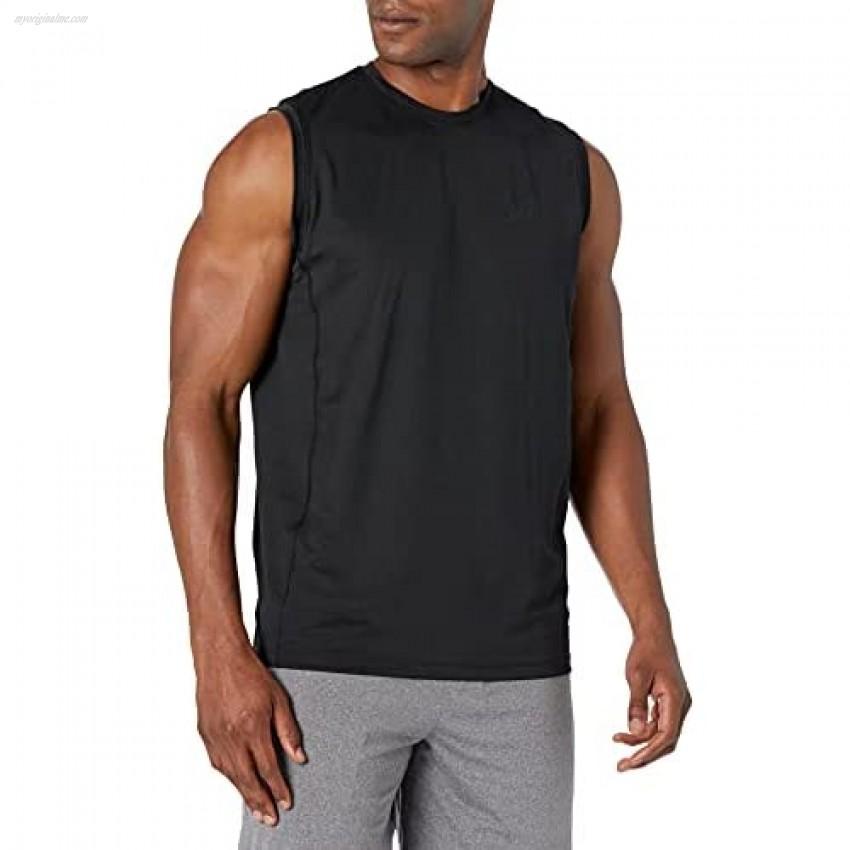 Peak Velocity Men's Tech-Stretch Sleeveless Quick-Dry Loose-fit T-Shirt