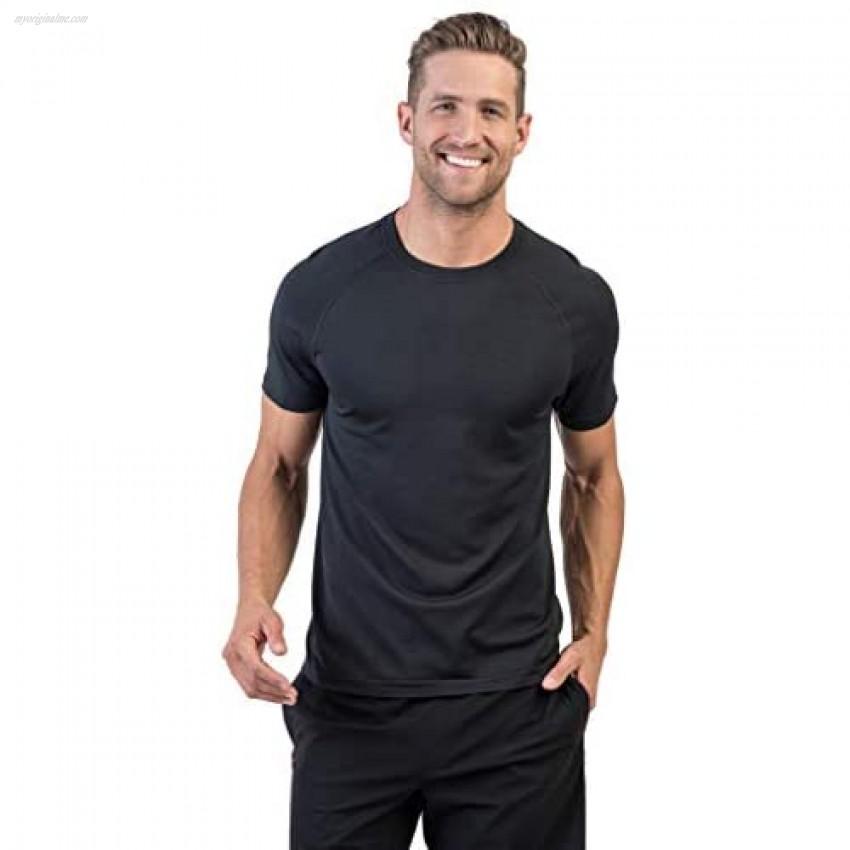 Rhone Men's Reign Tech Short Sleeve Premium Workout Shirt Lightweight Anti-Odor Moisture Wicking Quick Dry Technology