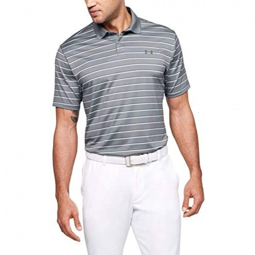 Under Armour Men's Performance 2.0 Novelty Golf Polo Steel (035)/Pitch Gray X-Large