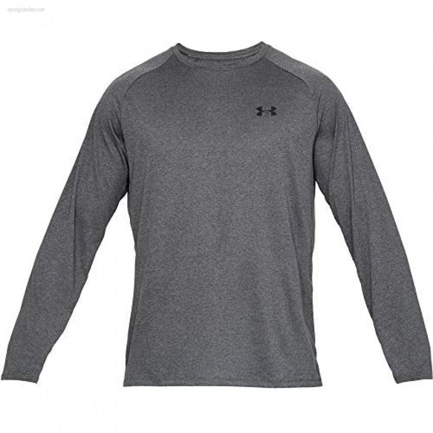 Under Armour Men's Tech 2.0 Long Sleeve T-Shirt  Carbon Heather (090)/Black  3X-Large