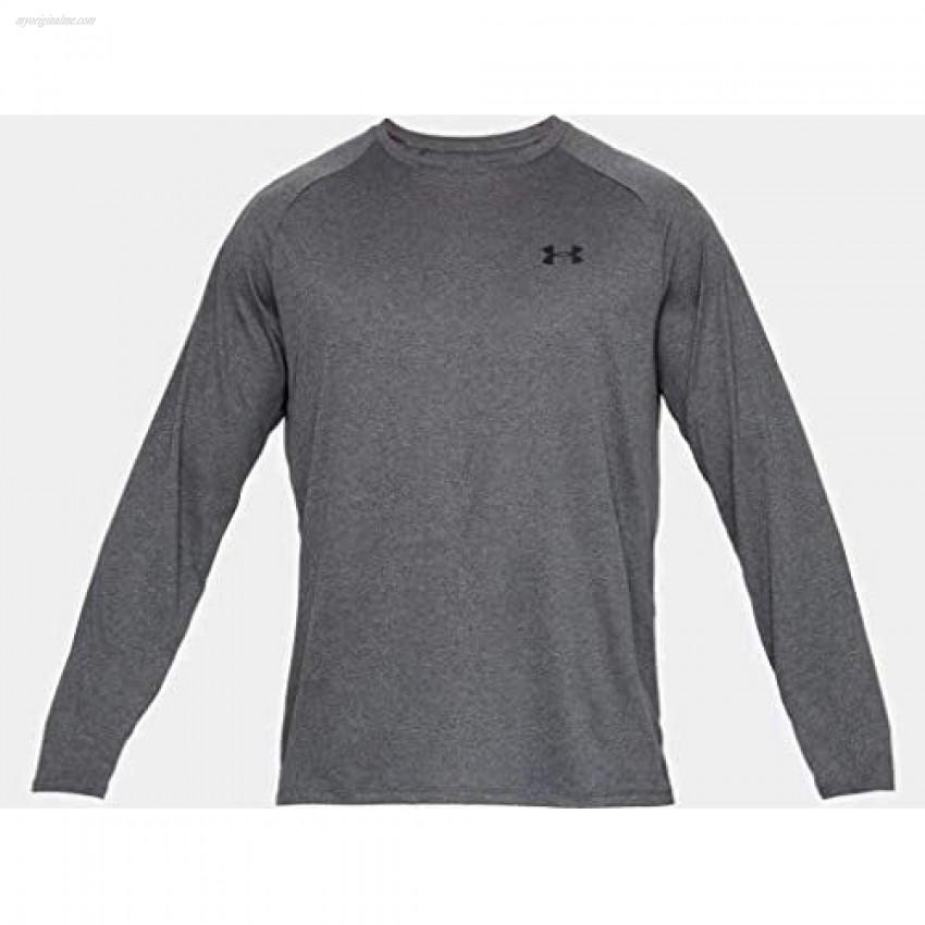 Under Armour Men's Tech 2.0 Long Sleeve T-Shirt Carbon Heather (090)/Black Small
