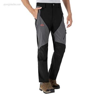 BGOWATU Men's Outdoor Hiking Pants Quick Dry Lightweight Cargo Work Pants Water Resistant Zipper Pockets