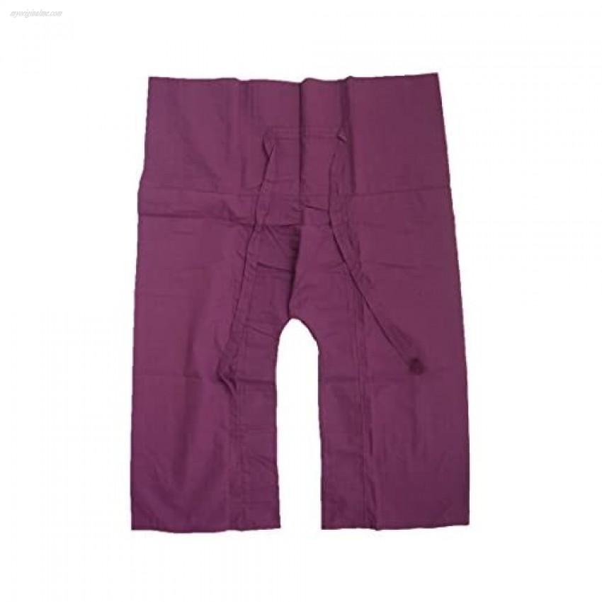 Casual Thai Fisherman Long Pants Yoga Meditation Kung Fu Tai Chi Pants Pregnancy Pants Unisex