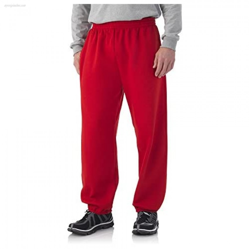Fruit of the Loom Best Collection&#8482 Men's Fleece Elastic Bottom Pant Small True Red