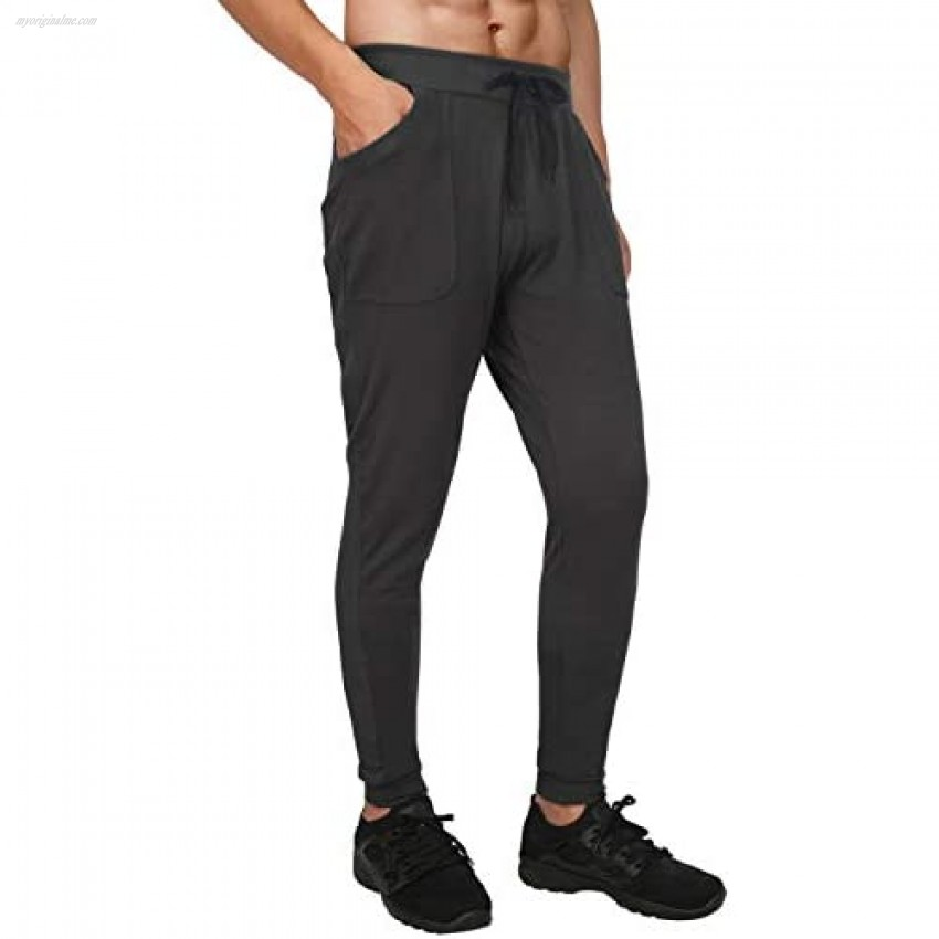 HDE Men's Athletic Yoga Pants Active Joggers for Men Casual Workout Gym Gear