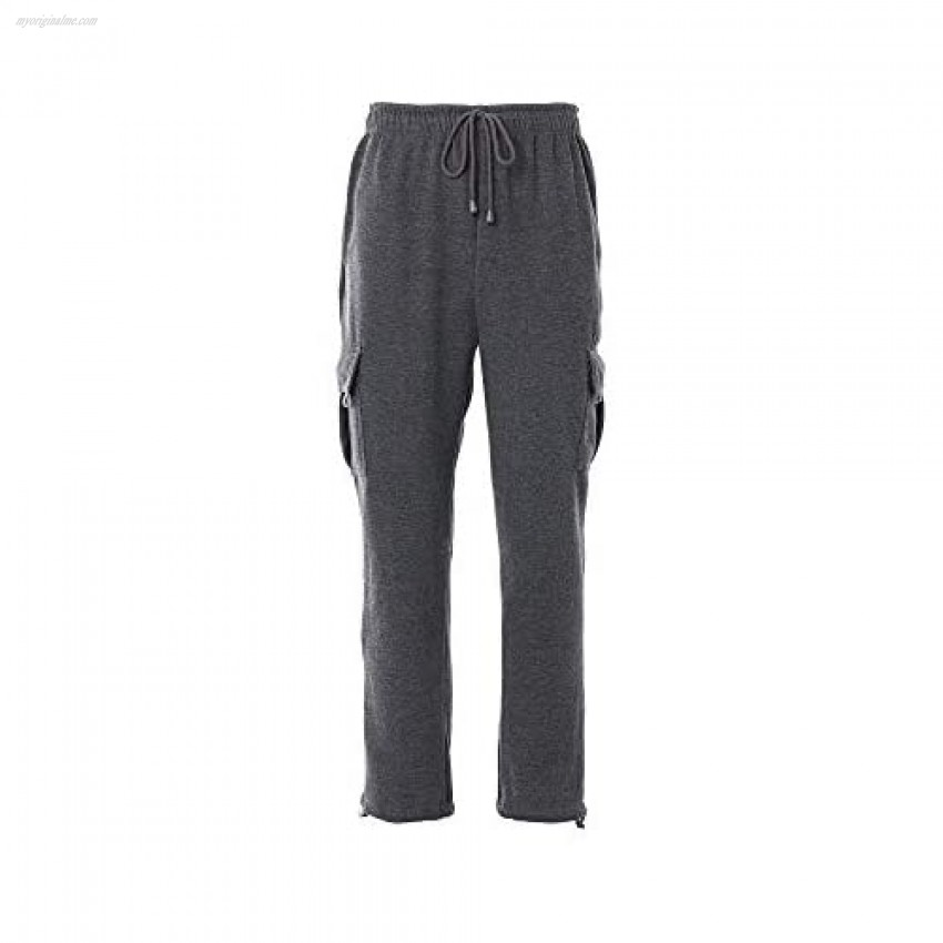 Mens Thickened Plush Baggy Pants Drawstring Overalls Harajuku Jogger Pockets Flannel Sweatpants Warm Britches Plus Size