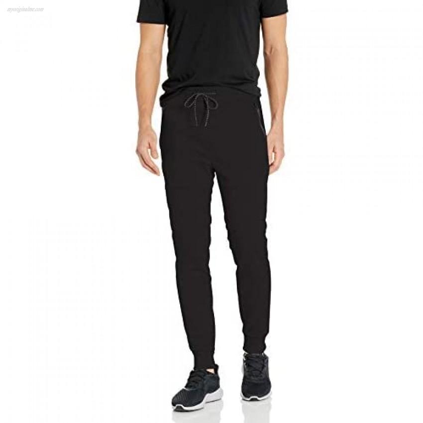 Southpole Men's Tech Fleece Basic Jogger Pants-Reg and Big & Tall Sizes Black Panel X-Large