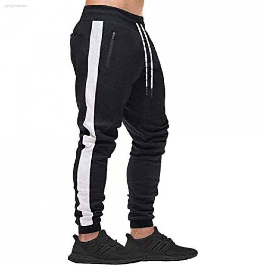 WOTHONPIS Men's Joggers Sweatpants Casual Jogger Pants Mens Workout Pants Running Pants with Pockets for Men
