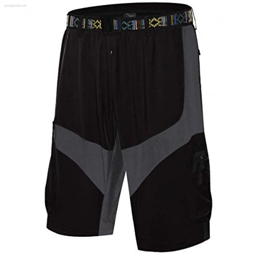 BOZASY Men's Outdoor Lightweight Hiking Shorts Lightweight Quick Dry Sports Cargo Shorts with Zipper Pockets