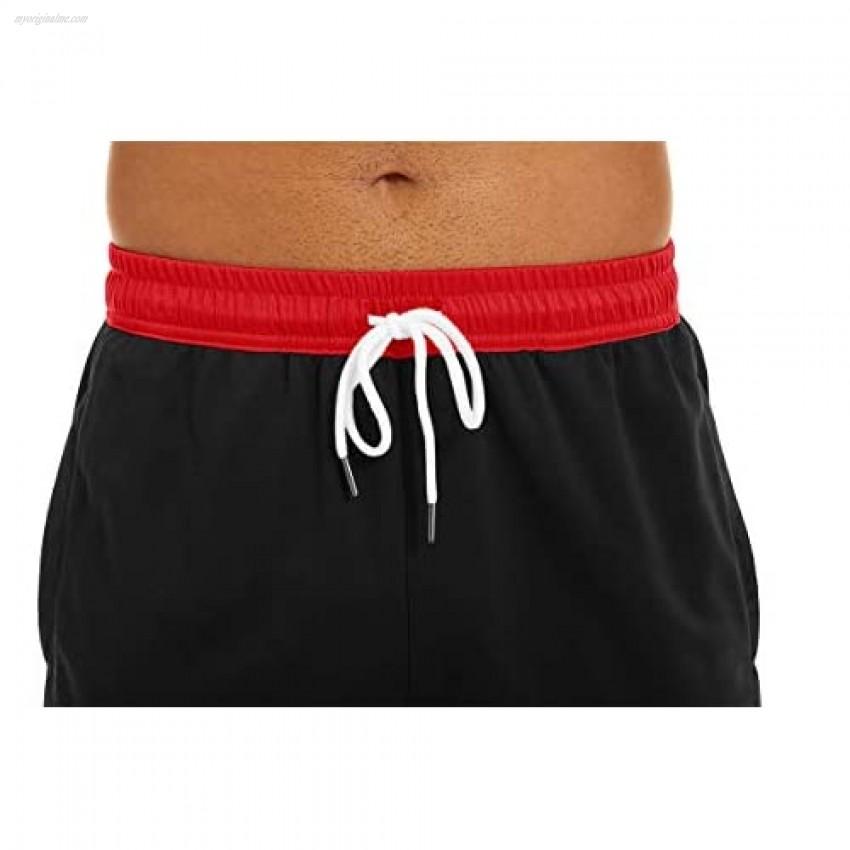 CRYSULLY Men's Athletic Workout Shorts Drawstring Mesh Quick Dry Training Shorts