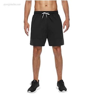 Deyeek Men's Gym Workout Shorts Running Athletic Short Pants Bodybuilding Training Jogger with Pockets